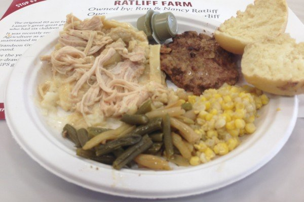 The only thing missing from Farm Factor's main course at the Ratliff Farm was a bigger plate.