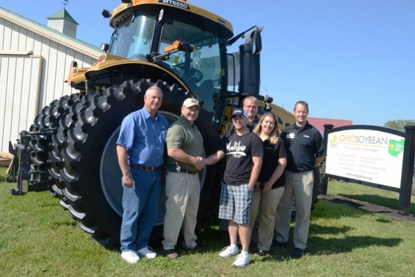 Kevin Kruger, from Allen County, was the winner of 50 hours with a new Cat Challenger Series tractor for signing up as a new member of the Ohio Soybean Association.