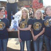 Pictured: Samantha Burns, Sawyer Hacker, Sidney Hacker, and Mrs. Kennel