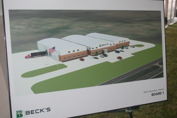 A preview of the Beck's facility, set to open next year in London, Ohio.