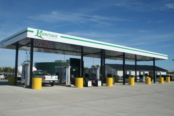 A new CNG (Compressed Natural Gas) station is part of the new additions to Heritage Cooperative's Ag Campus in Kenton, Ohio