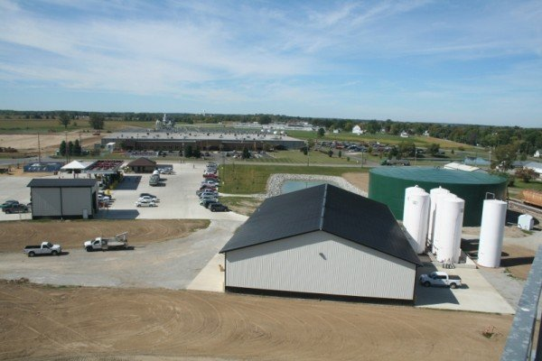 An aerial view of the new Heritage Cooperative's Kenton facilities