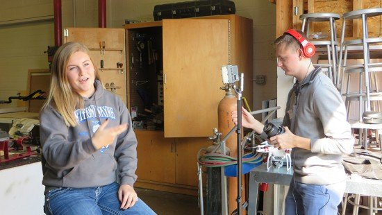 Camryn Buskey, a sophomore FFA member, is interviewed by Matt King for the iAmFFA video in association with Ohio Department of Education