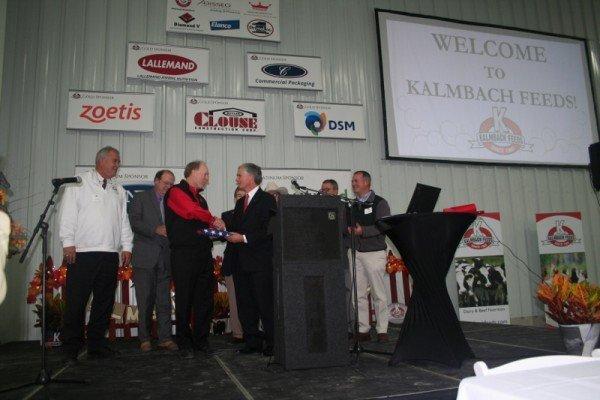 U.S. Congressman Bob Latta and members of The Ohio Congress present Paul Kalmbach a flag flown over Congress.