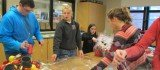 Members of the Miami East-MVCTC FFA stay busy with fruit sale work