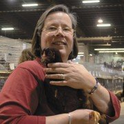 Laura Haggarty, the treasurer for the American Buckeye Poultry Club, loves the all around performance and hardiness of her Buckeye hens.