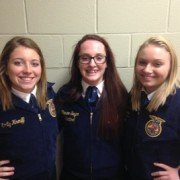 Three members, (left to right) Emily Knouff, Cortney Norris and Nicole Allen, qualified and competed in the district job interview contest on November 19th.