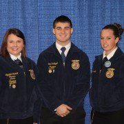 (L-R) American Degree Recipients Elizabeth Overholt, Matt Schlegel, and Gretchen Straits.
