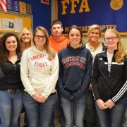 Members submitting an application in the Proficiency Awards were: (front row, L to R) Madeline Davis, Hannah Wilson, Katie Bendickson, Kelsey Kirchner (back row, L to R) Carly Gump, Olivia Edgell, Colin Gump, Emily Beal, and Miranda Maggart. Not pictured was Nathan Teeters.