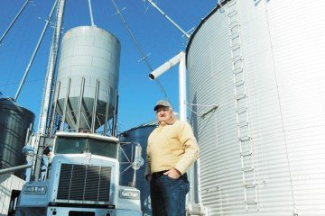 Richard Flax, from Clark County, shared his story because he hopes it can help increase awareness of grain bin safety. Photo by Joel Penhorwood.
