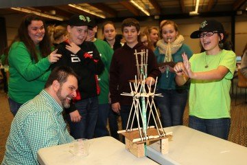 "Youth took part in an interactive ""Water Windmill Challenge"" as part of the 4-H Ag Innovators Experience."