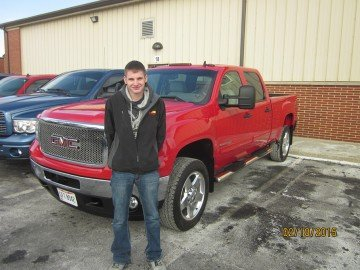 Senior Fort Recovery FFA Member Jamieson Hess with his cleanest truck
