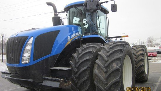 Senior Fort Recovery FFA Member Austin Kahlig with his Most Horse Power tractor