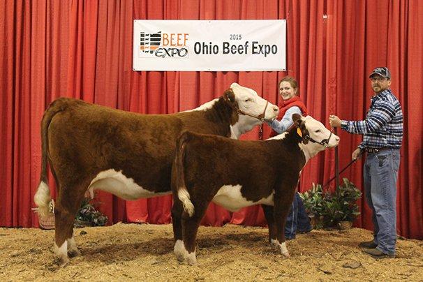 Reserve Grand Champion Hereford Cow/Calf Thornbriar Farm, Forest – CJB Trust Me 100w 7-25-12