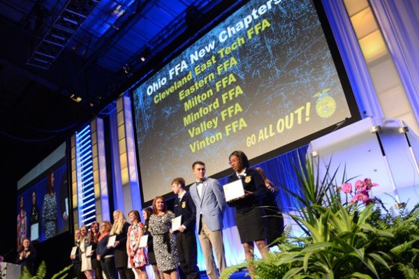 New FFA chapters were recognized