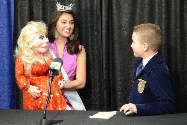 Student reporter Jarrett Crowthers got to interview MIss Ohio and Roxy
