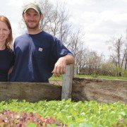Kurt and Corinna Bench own and operate Shared Legacy Farms LLC in Ottawa County where they produce organic vegetables for a CSA and for local chefs.