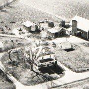 Here is an aerial view of the Good-Woodruff farm from Champaign County early in the 20th century.