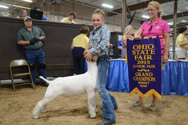 Grand Champion Junior Wether Goat: Paige Pence, Clark Co.