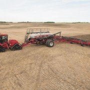The new Case IH Precision Air 4585 air cart features a four-tank design with a total capacity of 580 bushels.