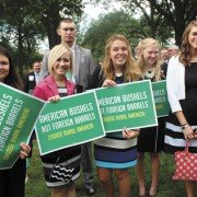 Ohio students at the recent RFS rally included Amanda Bush, Sydney Snider, Grant Price and Mary Siekman, from The Ohio State University; Micaela Wright, Lindsey Overmyer, Connor Headings, and Taylor Dill from Wilmington College; and Greggory Hahn and Bethany Carlson from Northwest State Community College.