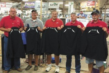 Runyan was recognized at the 2014 Ohio State Fair for his service, along with several others. Pictured are Charlie Andrews, Kevin Wendt, Robert Troutman, Dave Runyan, and Daryl Sollars.
