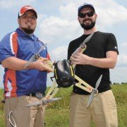 Brian Kronenberger and Jason Adams hope to serve agriculture from the air through USAerobotix.