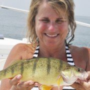 A jumbo yellow perch worth swimming for.