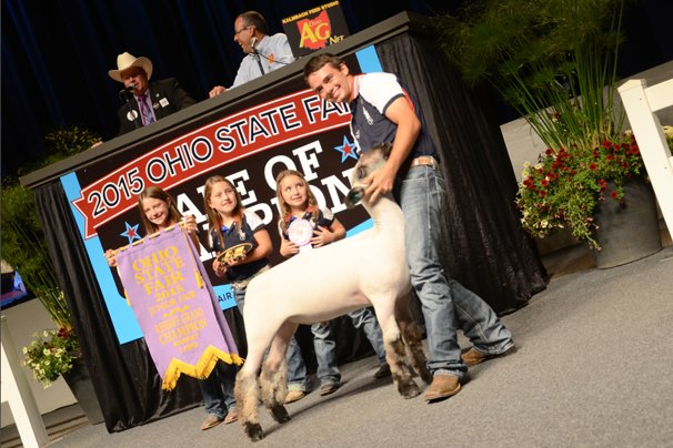 The Reserve Champion Market Lamb was exhibited by Logan Harvel, Fayette County, and sold to Kroger for $23,000.