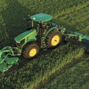 The new Triple-Mount Mower Conditioners from Deere are designed for superior cutting and conditioning of crops in the field.