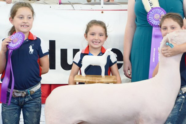 The Shroyer girls had plenty of chances to woo buyers at the sale.