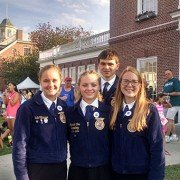 Zane Trace FFA Food Science team members placed 4th at the Eastern States Exposition.  Members are Nathanael Freeman, Olivia Pflaumer, Ann Shelby and Mariah Cox