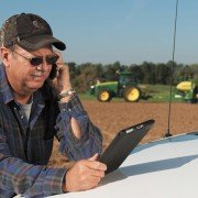 The John Deere Operations Center enables growers to easily access farm information for better management of their operations.