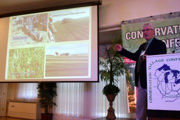 Barry Fisher, soil scientist for USDA-NRCS, was the keynote speaker at the CTC opening session on Wednesday.