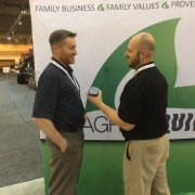 Ty visits with AgPHD's Darren Hefty at Commodity Classic