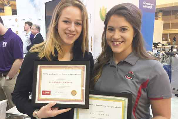 Samantha Wander from Bellville and Leah Schwinn of New London were scholarship winners at Commodity Classic.