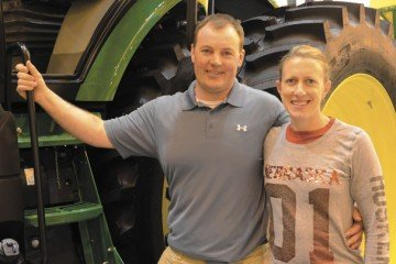 Adam and his wife, Lanay, work together on the farm and got to enjoy their trip to Commodity Classic.