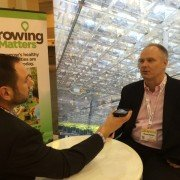 Matt Reese visits with Shawn Potter from Syngenta