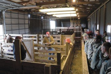 The training featured hands-on work with livestock and facilities.