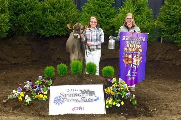 Congrats to Shelby Rader from Rader Farms for winning Supreme Junior Champion