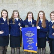 Ashley Landis, Allison McCumons, Olivia Maurer, Taylor Schmidt and Courtney Hollenbacher competed in the State Ag Issues competition and received 5th place