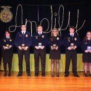 Retiring Officers Sawyer Shipman, Lauren Miller, Darren Bush, Dylan Pangborn, Savannah Randall, Andrew Gardner, Tylee Kidwell, and Taylor Watson