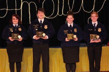 Top Senior Lauren Miller, Top Junior Andrew Gardner, Top Sophmore Molly Trapani, Top Freshman Xavier Nells