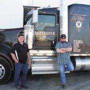 Dan Radebaugh (left) started Radebaugh Inc. Trucking 40 years ago and now runs it alongside his son Brandon (right).