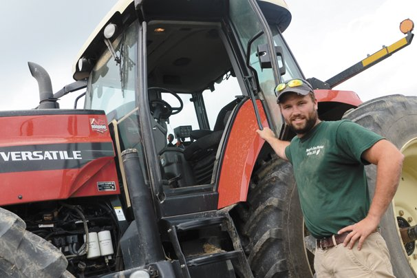 Adam Kirian in Hancock County feels that wheat is still a valuable part of his farm.