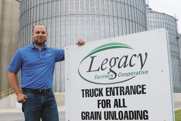 Chad Rosebrook, with Legacy Farmers Cooperative, works closely with farmers to help maintain high quality wheat.