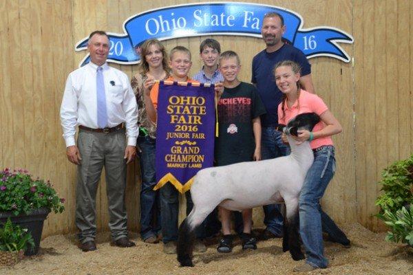 Grand Champion Market Lamb: Kylee Johnson, Wayne Co. (Champ. Grade)