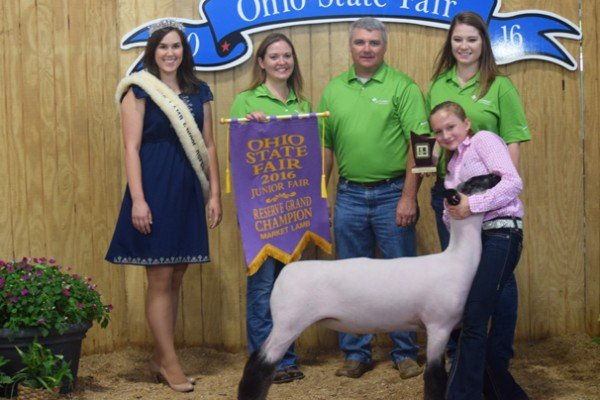 Reserve Grand Champion Market Lamb: Paige Pence, Clark Co. (Res. Champ. Grade)