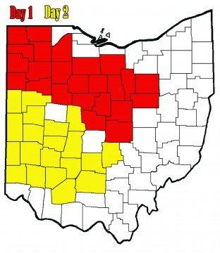 2016 Ohio Crop Tour map