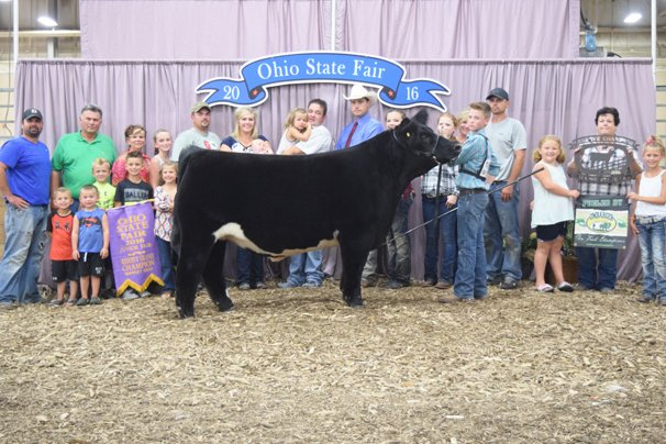 Reserve Grand Champion Market Beef: Caden Jones, Allen Co. (Division V Crossbred Champion)